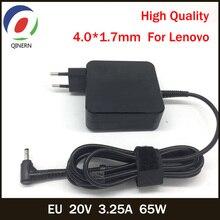 QINERN EU 20V 3.25A 65W 4.0*1.7mm caricabatterie per Laptop ca per Lenovo IdeaPad 100 15 710 YOGA 510 14ISK adattatore di alimentazione per Notebook