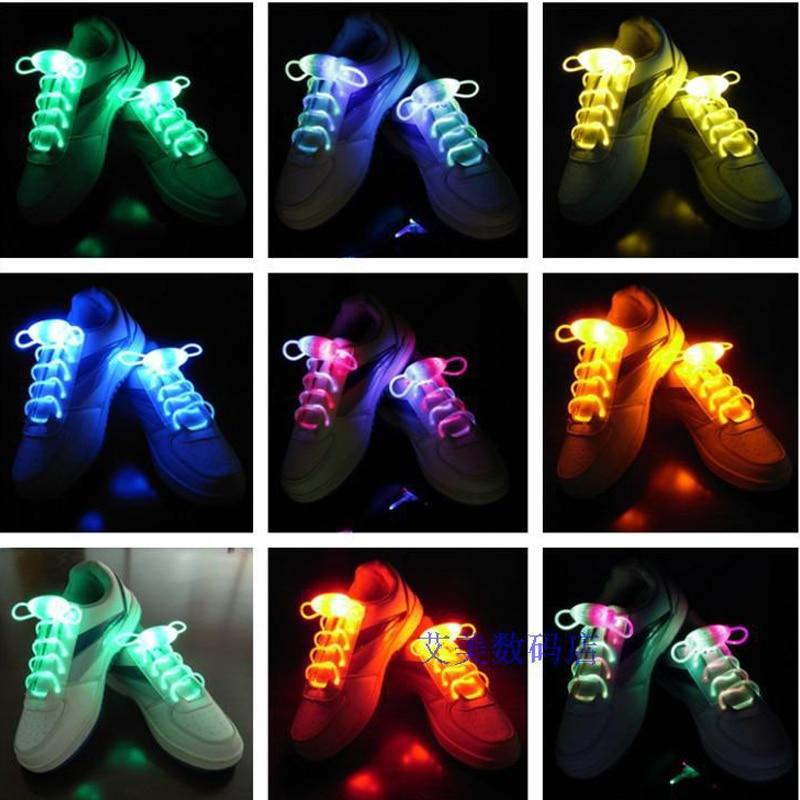 LED Flash Luminous Light Up Glow Strap Shoelace Shoe Laces Party Disco Props LG