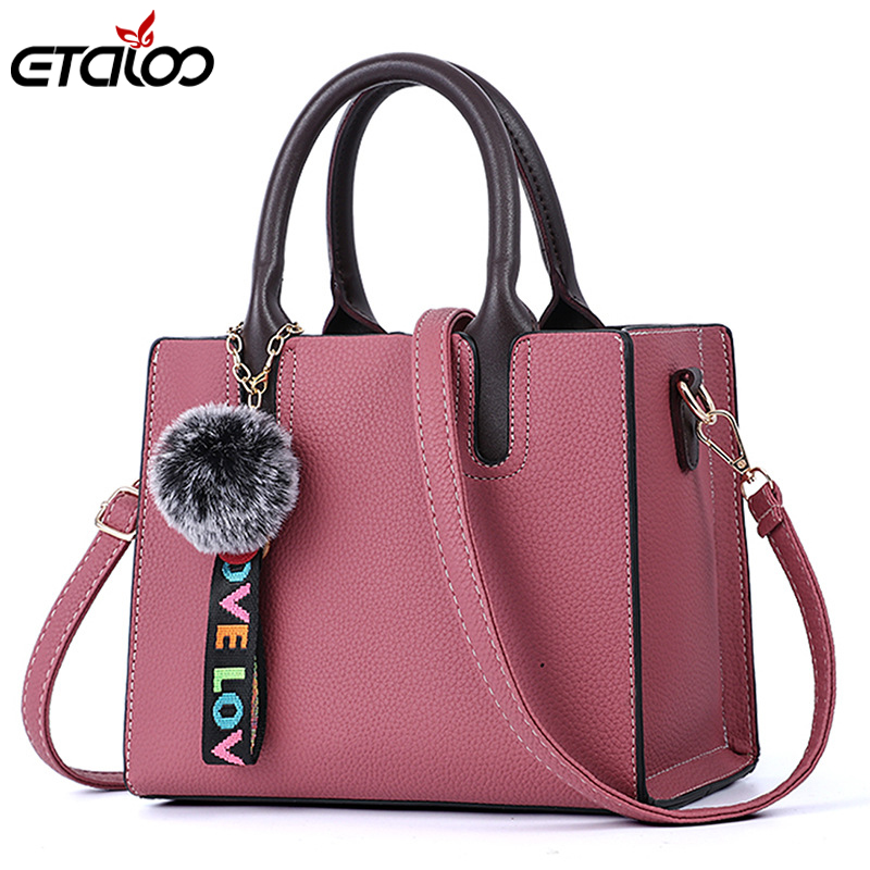 Female bag 2018 Korean version of the new trendy fashion PU hand bag pu Messenger bag