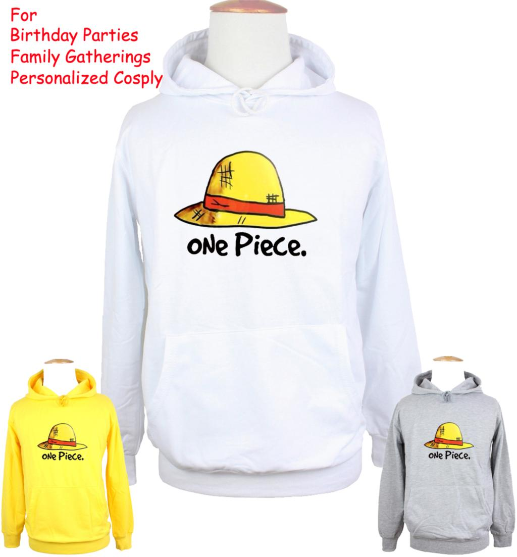 Unisex Cartoon One Piece Monkey D Luffy Straw Hat Design Hoodie Mens Boys Womens Girls Sweatshirt Tops Printed Hoody