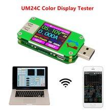 RD UM24 UM24C Для APP USB 2,0 ЖК-дисплей Дисплей Вольтметр Амперметр заряда аккумулятора Напряжение Амперметр мультиметр кабель измерительный тестер