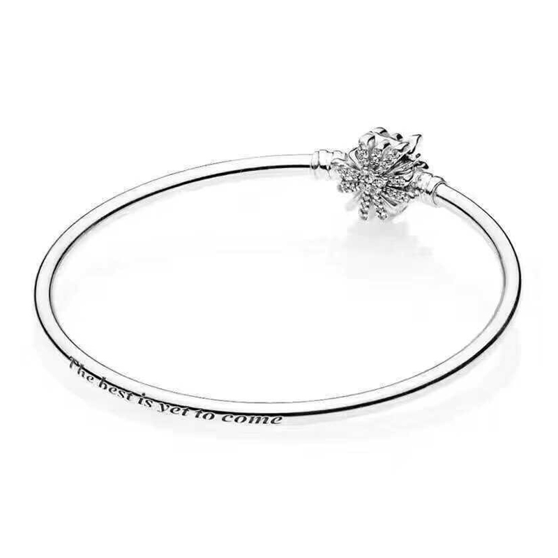 Jewelry & Accessories Motivated 2018 Winter 925 Sterling Silver Original Sparkling Dazzling Fireworks Pandora Bangle Fit Charm Bracelet Diy Jewelry 597563cz Long Performance Life