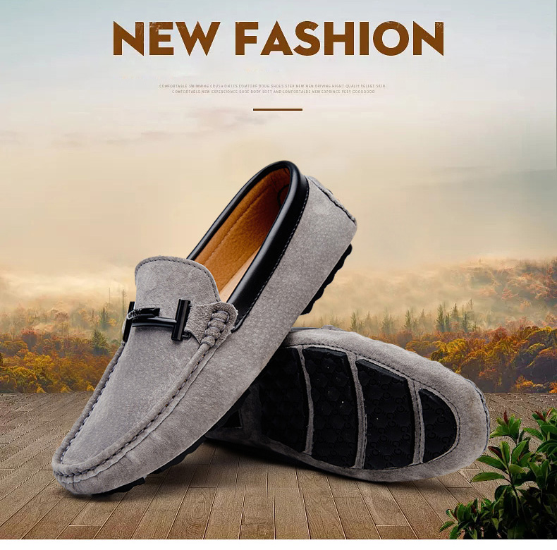 Men's Top Brand Fashion Casual Soft Loafers Suede Boat Shoes Male Footwear Adult Drivings Summer Moccasins Hommes Plus Size 11 53
