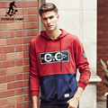 Pioneer Camp brand clothing red hoodie hoodies men high quality fashion male sweatshirts casual printed men hoodies 622150
