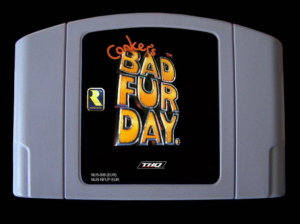 HOT SALE] 64 Bit Games ** Conker's Bad Fur Day English PAL