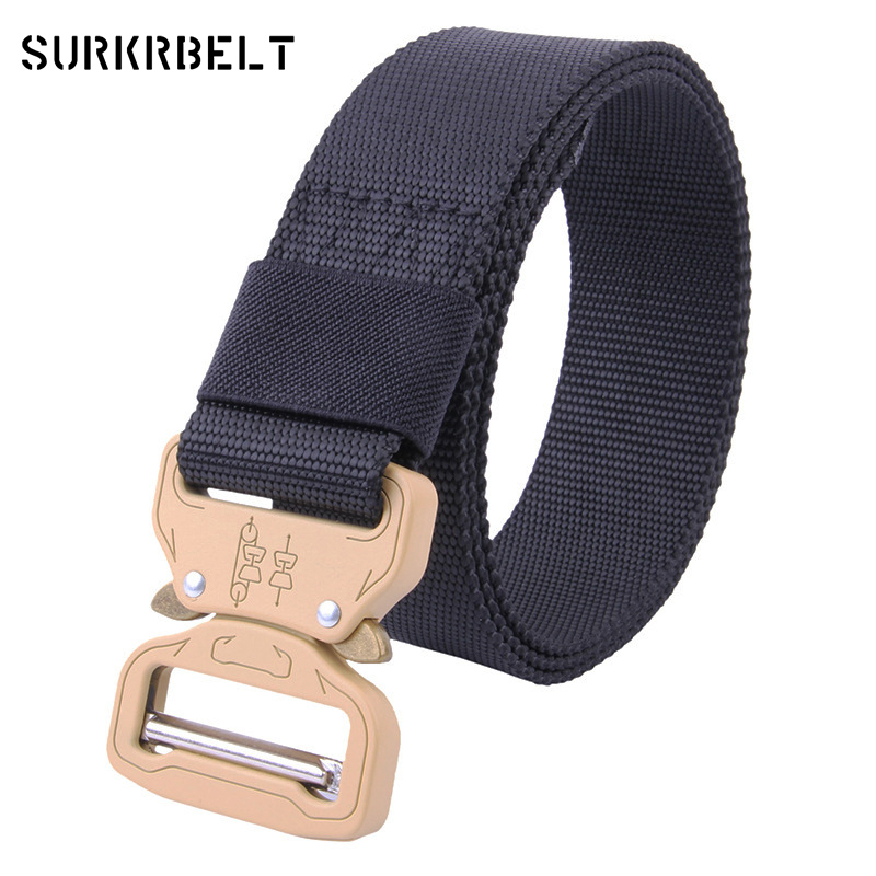 Military Army Equipment Cobra Buckle Belt Kemer Men's 100% Nylon Stretch Belt Sergeant 511 Outdoor Tactical Waistband Belts