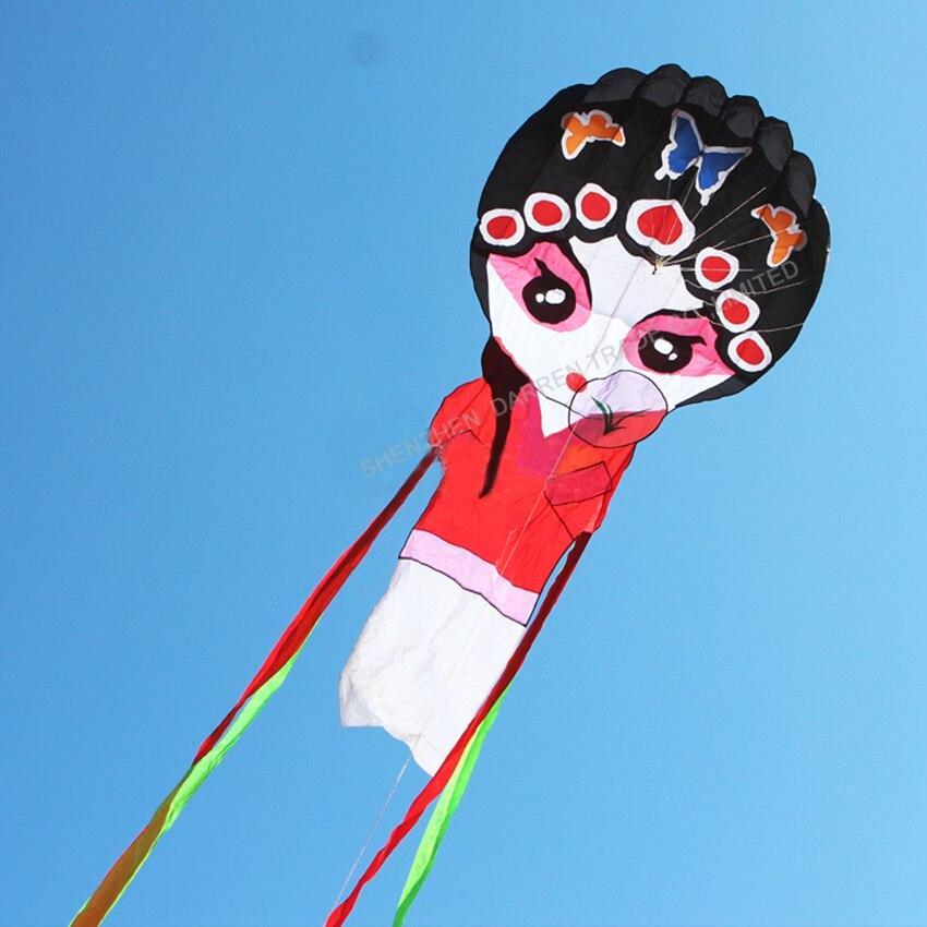 1PC haute qualité chinois traditionnel cerf-volant pékin opéra cerf-volant jouets en plein air pékin opéra masque cerf-volant - 2