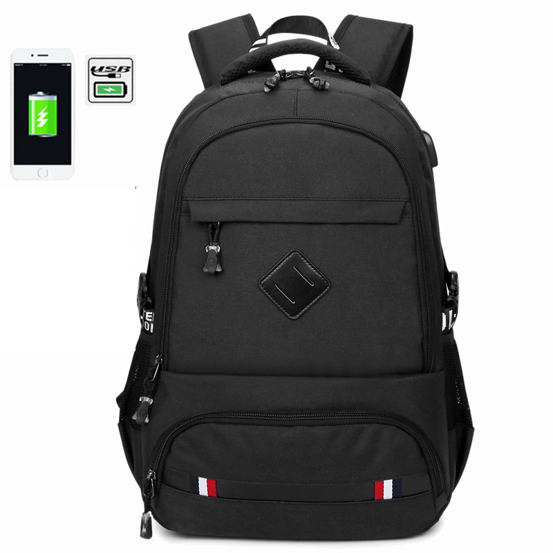 2018 New USB Charging 15.6 inch Laptop Backpack For Teenage Schoolbag Men Backpack Male High school backpack Boys School Bags usb charging teen black school bags for teenage boys men backpack schoolbag canvas back pack male high school bag 2018