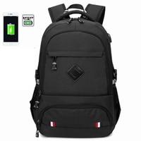 2019 New USB Charging 15.6 inch Laptop Backpack For Teenage Schoolbag Men Backpack Male High school backpack Boys School Bags