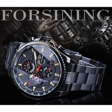 Forsining 2019 3 Dial Calendar Multifunction Military Luminous Hand Mens Mechanical Sport Automatic Wrist Watch Top Brand Luxury