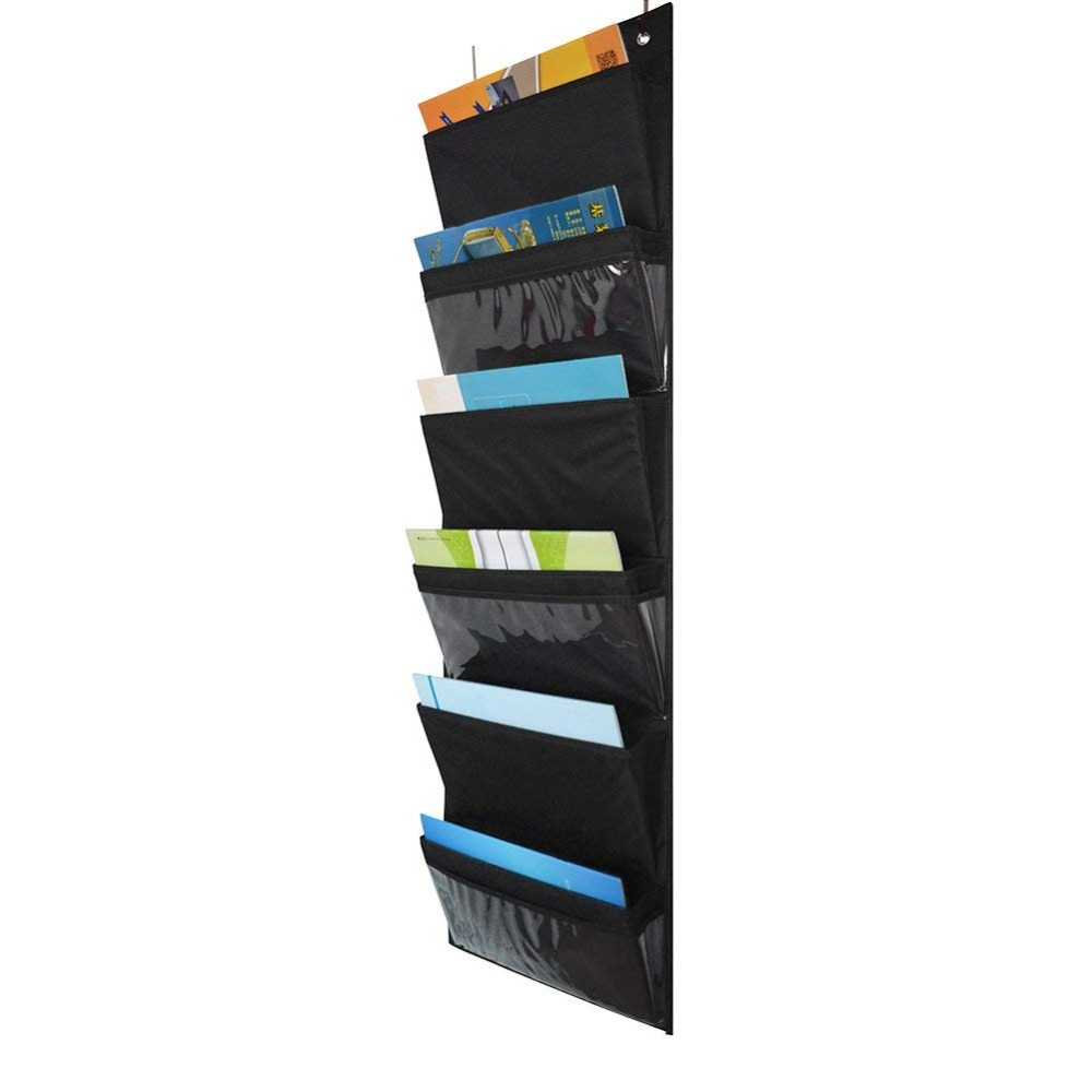 Godery Over The Door Hanging File Folders Organizer, Fabric Office Supplies Storage Organizer, Wall Mount Pocket Chart Storage