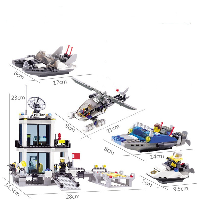 Compatible with lego building blocks assembled series of city fire department plane car assembly model 003 children's toys gift lepin 02012 city deepwater exploration vessel 60095 building blocks policeman toys children compatible with lego gift kid sets