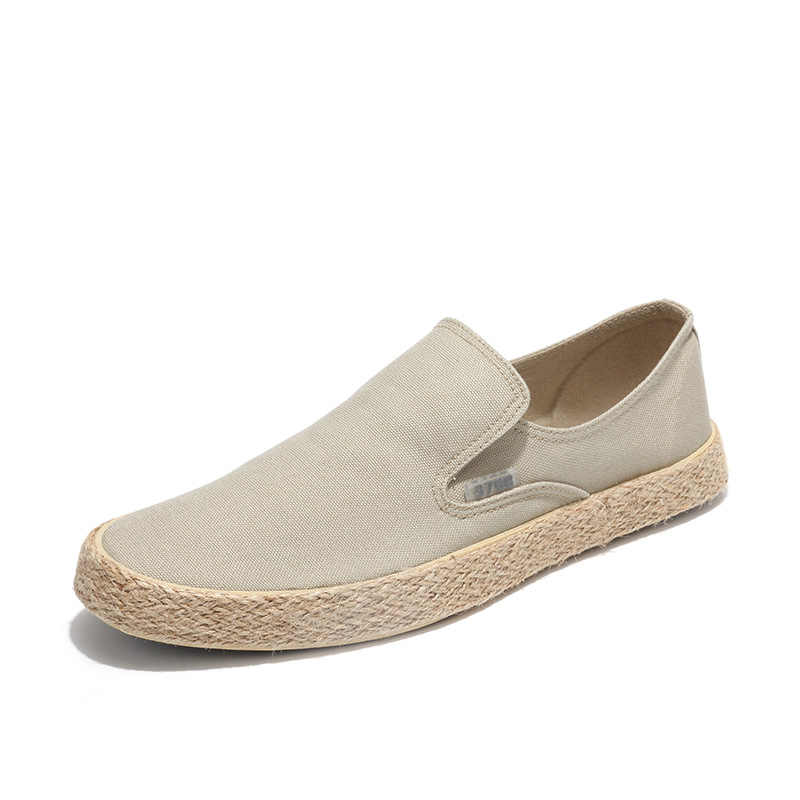 2019 קיץ אופנה גברים בד נעלי נעלי בד גברים נעליים יומיומיות להחליק על לנשימה ופרס גברים דירות נעל Zapatos Hombre