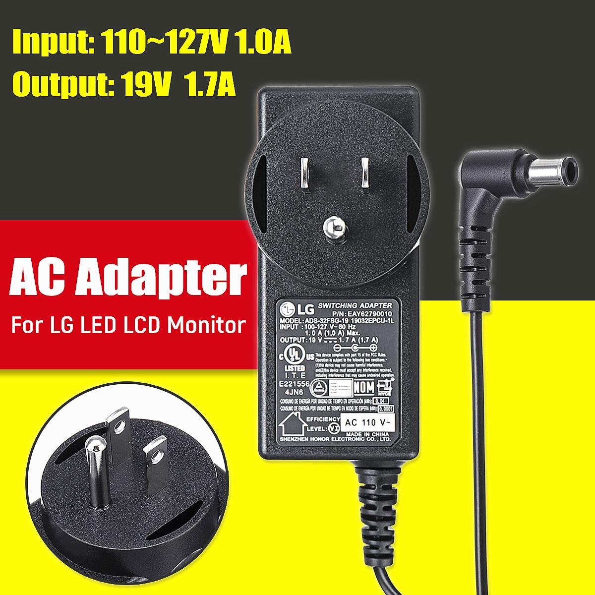 LG LED LCD Monitor AC Adapter Power Supply 19V 1.7A US Plug ...