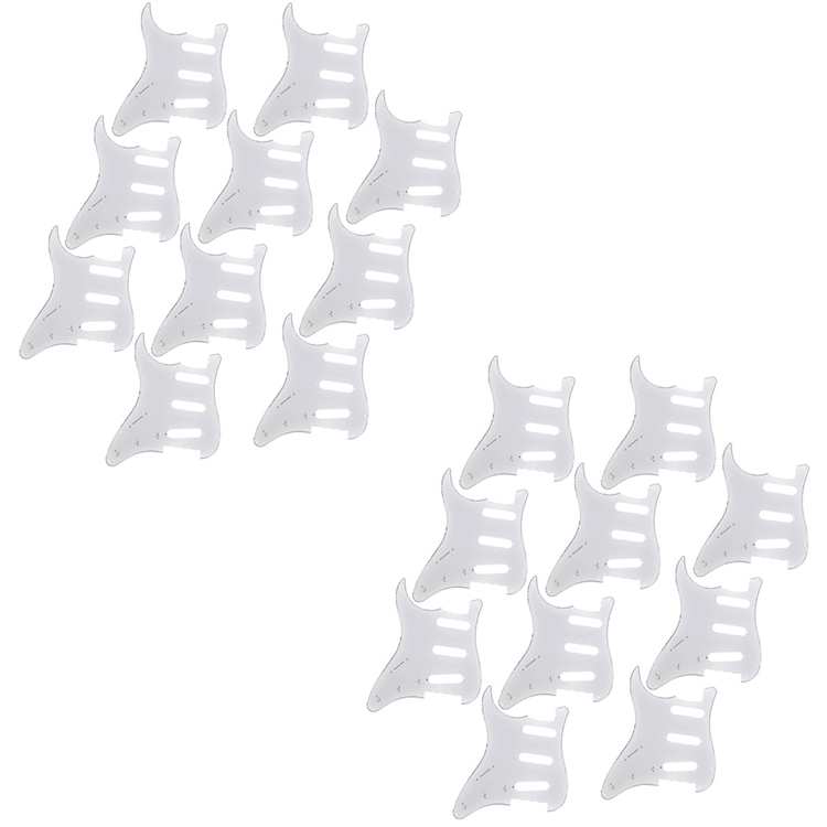 20Pcs Standard Pickguard 3Ply Left Handed Guitar Parts For Electric Strat ST Replacement 3 ply electric guitar pvc pickguard for fender strat st musical stringed instruments guitar parts