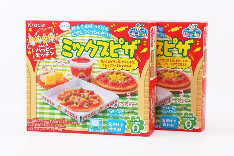 DIY Kracie Popin Cook candy dough Toys Pizza birthday cake Sushi Hamburger Mokolet Pop Spun happy