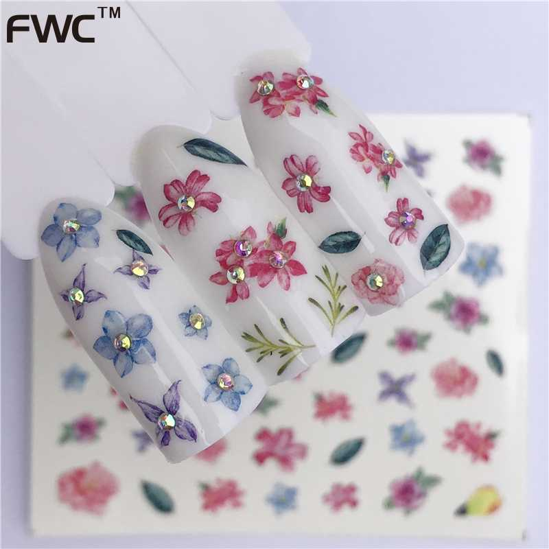 WUF 1 Sheet Summer Fruit Strawberry Cherry Cake Ice Cream Nail Art Water Transfer Sticker Decor Slider Decal Manicure