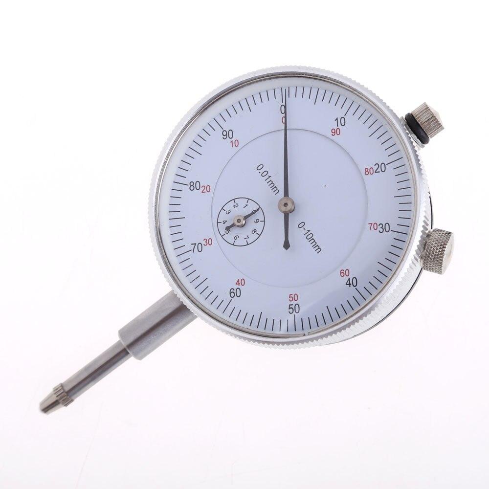 Precisão 0.01mm Dial Indicator Calibre 0-10mm Medidor Preciso 0.01mm Resolução Indicador Bitola mesure instrumento Ferramenta indicador de discagem
