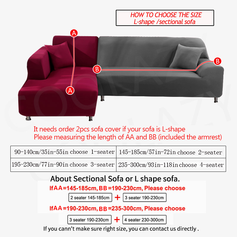 2 Piece Sofa Cover for L Shaped Corner Couch with Double Reinforcement Suitable for Living Room 1
