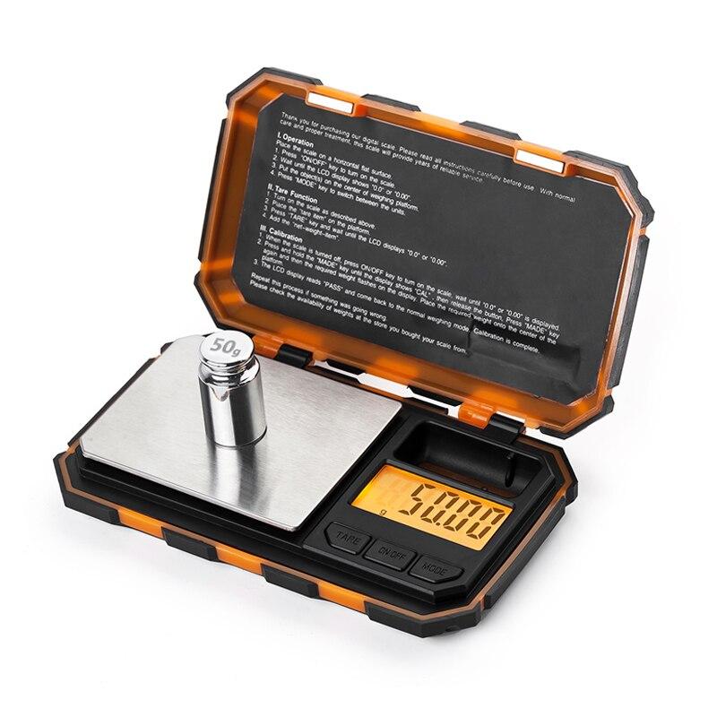 200g x 0.01g Mini Digitale di Precisione Bilancia per Oro Gioielli In Argento Sterling 0.01 del Peso di Equilibrio Scala Elettronica 50G di calibrazione