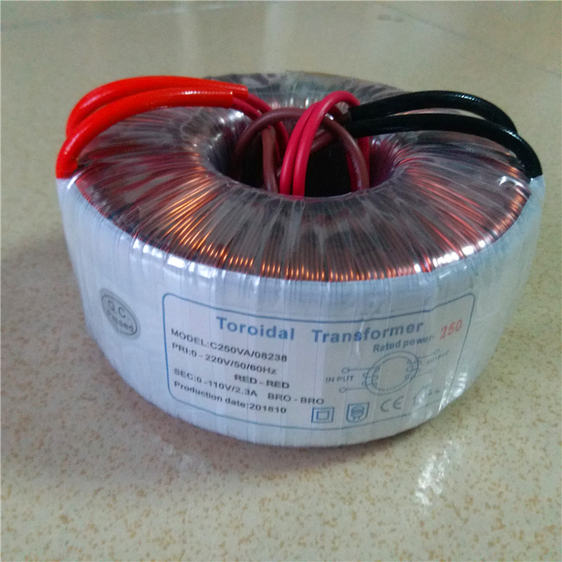 110V 2.3A Isolation transformer Toroidal transformer 250VA 220V input copper custom transformer 220V to 110V power transformer110V 2.3A Isolation transformer Toroidal transformer 250VA 220V input copper custom transformer 220V to 110V power transformer