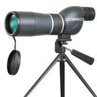 15 45X60 Spotting Scope Telescope 60mm 15 45X Zoom Long Range Waterproof Birdwatch Hunting Monocular With Tripod Mount