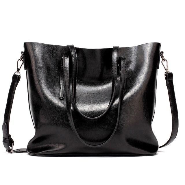 DIDA BEAR Brand Women Leather Handbags Lady Large Tote Bag Female Pu Shoulder Bags Bolsas Femininas Sac A Main Brown Black Red 4