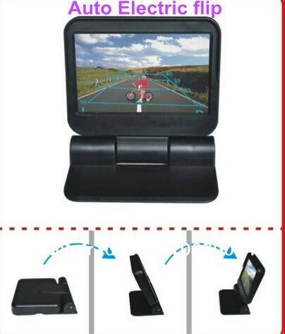 5 inch HD 800x480 Pixels Motorized Monitor Automatically flip up+Dual Video Inputs Foldable Digital TFT LCD Car Rearview Monitor