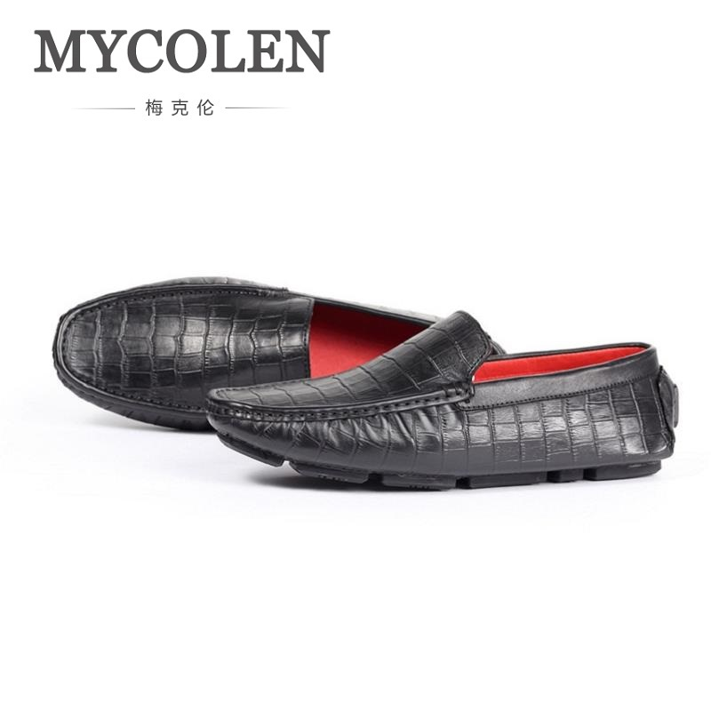 купить MYCOLEN 2018 Summer Men Fashion Brand Men Flats Shoes Slip-On Casual Loafers Cheap Moccasins Men Zapatillas Hombre Casual онлайн