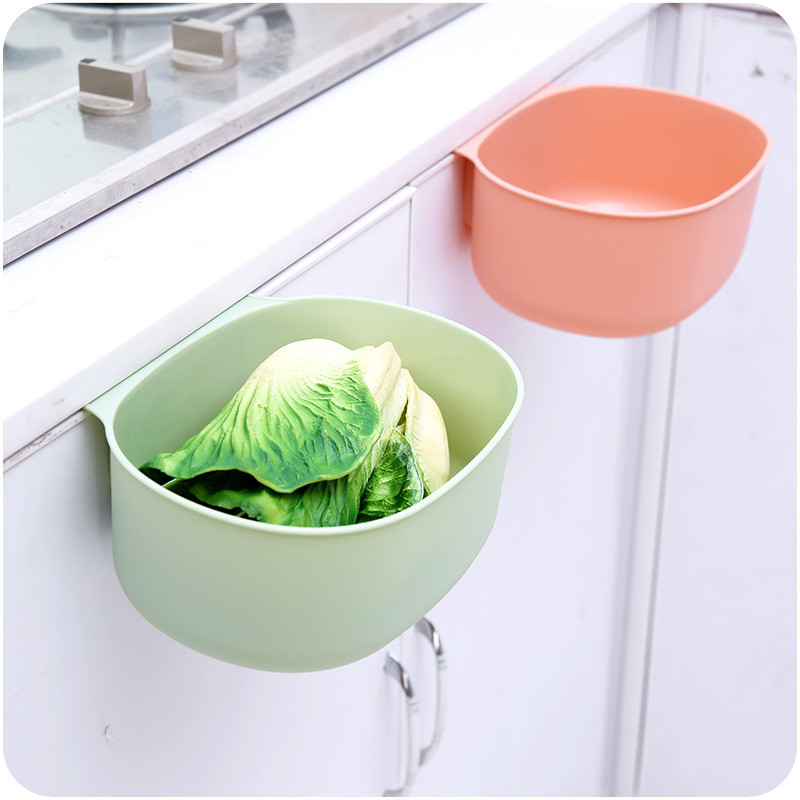 Cabinet Trash Hanging Storage Rack Debris Storage Holder Multifunction Kitchen Storage Box Organize Kitchen Storage Accessories