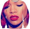 2016 Новая мода Rihanna толстовка мужчины/женская 3d символов толстовки crewneck пуловер Harajuku топы moletom плюс размер S-XXL