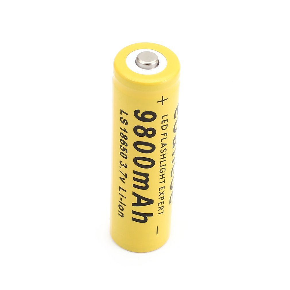 3 7 V 9800 mAh 18650 4 Pieces Batteries 9800mAh Li-ion Rechargeable Battery  For Flashlight