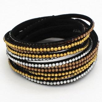 Snelle gratis verzending multilayer lederen armband crystal wrap - Mode-sieraden - Foto 5