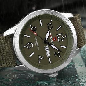 Image 3 - NAVIFORCE spor erkekler İzle ordu askeri erkek kol saati hafta ekran moda rahat kamp erkek Saat Saat Relogio Masculino