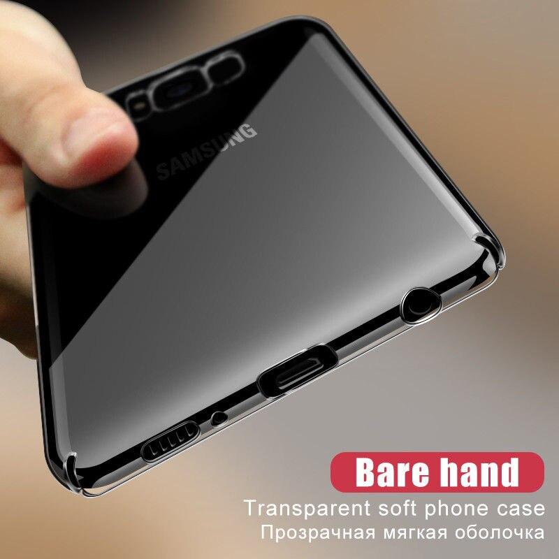 YISHANGOU Прозрачный чехол для телефона samsung Galaxy S10 S9 S8 Plus S10E Note 9 A9 A8 Жесткий ПК Противоскользящий чехол