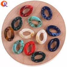 Design Cordial 16*23mm 700 pièces perles acryliques/accessoires de bijoux/perle de forme ovale/perles effet marbre/fait à la main/boucles doreilles