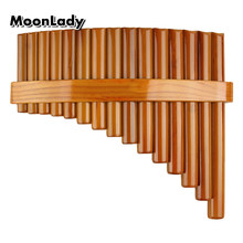 Chinese Traditional Musical Instrument 15 Pipes Pan Flute C Key High Quality Pan Pipes Woodwind Instrument Bamboo Pan flute(China)