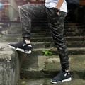 New 2015 Fanshion Mens Camo Joggers Pants Elastic Draw String Casual Camouflage Pants Millitary Black Joggers Calca Swag