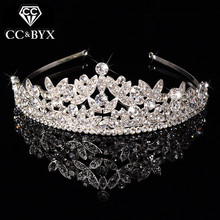 New Classic Queen Top Crystal Tiaras Crowns for Women Fashion Hair Jewelry for Brides Shine Full of pure Wedding Engagement F031