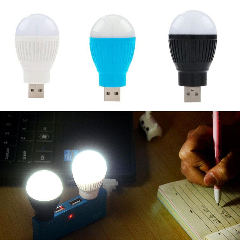 Newest Mini USB LED Light Portable 5V 5W Energy Saving Ball Lamp Bulb For Laptop USB Soc ...