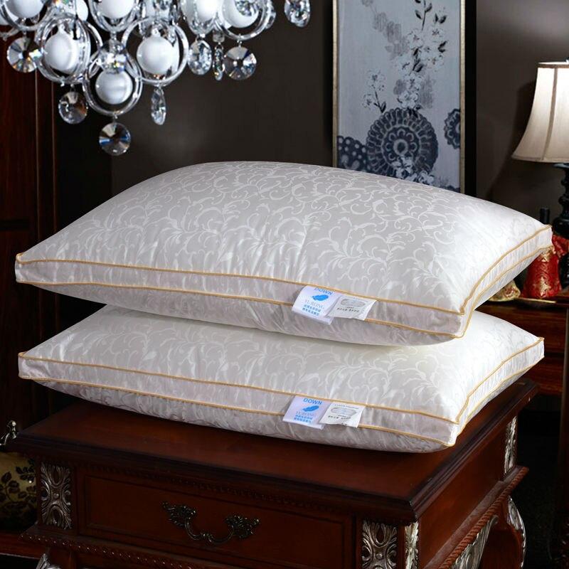 ФОТО Papa&Mima baroque leaves multifunctional neck pillows duck/goose down/memory foam filler silk cotton 48x74cm bedding pillows
