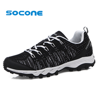 Socone Autumn Summer Lightweight Men Hiking Shoes Fashion Lace Up Breathable Mountain Trial Trekking Shoes Outdoor