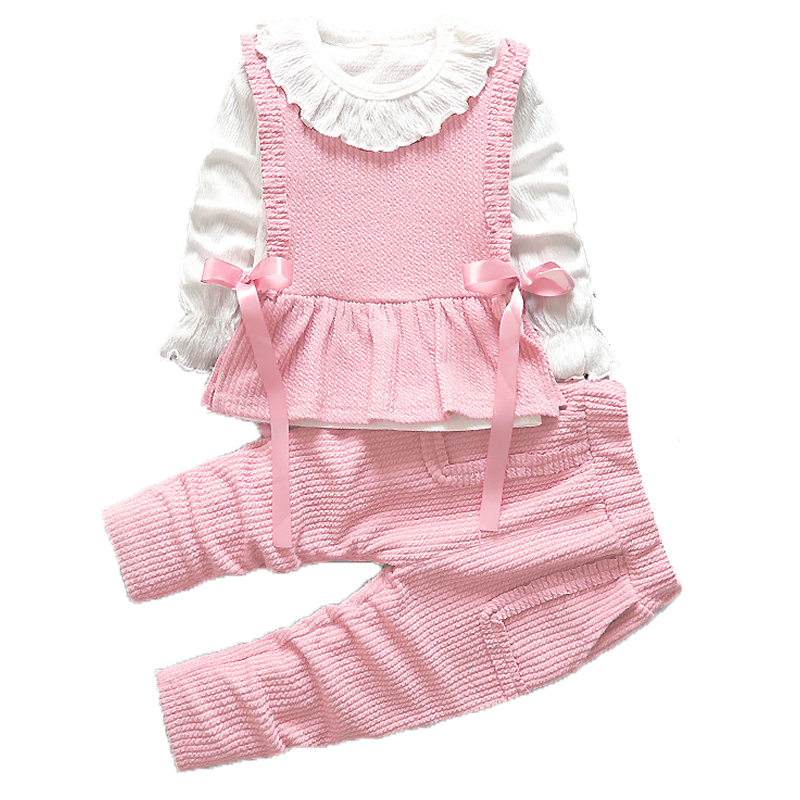 2021 Baby Girls Clothes Sets Children Clothing Toddler Girl Tracksuits Sport Suit Kids T-shirt +Vest Pullover And Pants Set 3Pcs 3