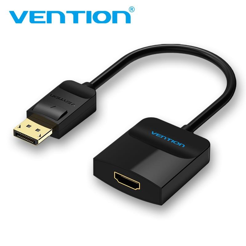 Tions Displayport auf HDMI Adapter DP ZUM HDMI Konverter Displayport HDMI Adapter DP Stecker auf HDMI Buchse Für Projektor TV 1080 P