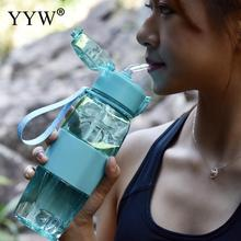 все цены на 500ml Plastic Bottle Water Bottles Water Bottle With Straw Stirring Ball Drink Bottle For Water Creative Cup Kids Handle Gym онлайн