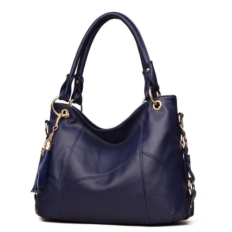 Genuine Leather Women Shoulder Bag Big Tote Bag Women's Designer Luxury Handbag Female Hobo Real Leather Tassel