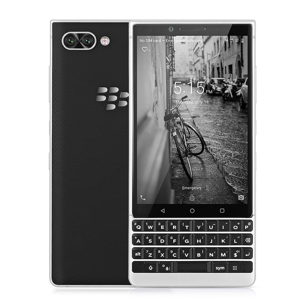 BlackBerry KEY2 4g Smartphone 4.5 pouce Android 8.1 Snapdragon 660 Octa Core 6 gb + 64 gb 12MP Double caméra arrière Téléphone Portable D'empreintes Digitales