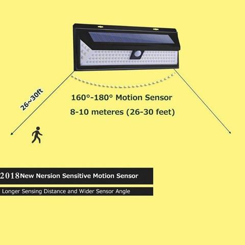 sensor de movimento da lampada solar a