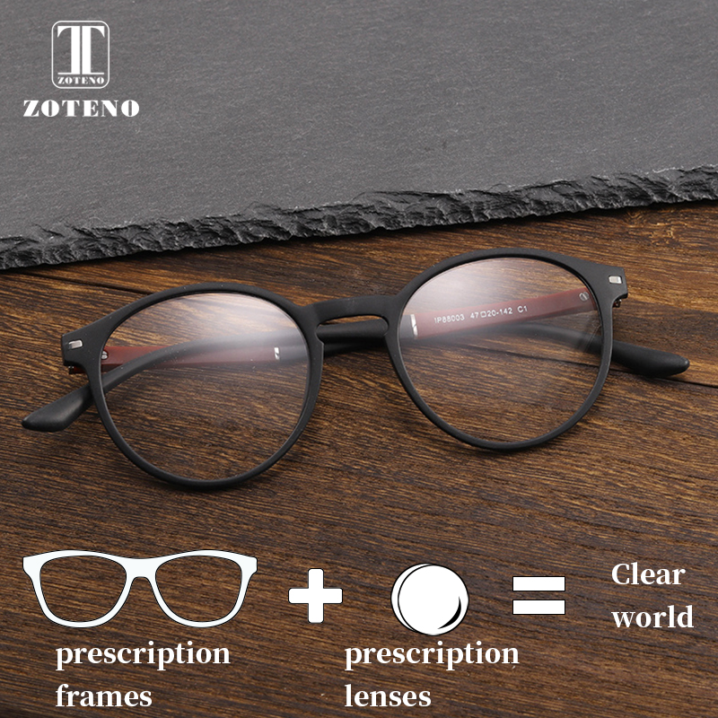 TR90 Round Prescription Glasses Men Vintage Retro Oliver Peoples Clear Optical Computer Myopia Prescription Spectacles #88003 acetate prescription glasses frame men oliver full round spectacles fors women peoples optical nerd myopia wood grain eyeglasses