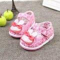 Детская обувь для девочек 2016 весной малыш принцесса девочек сначала ходунки милый мультфильм детские prewalkers